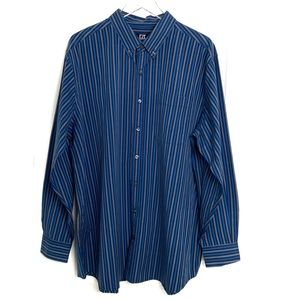⭐️Cutter & Buck Striped Button Down Shirt 1XB